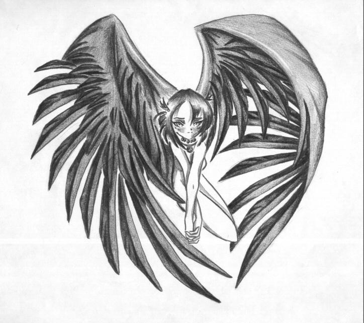 Sad Angel Drawing Sad Angel by Szatysia