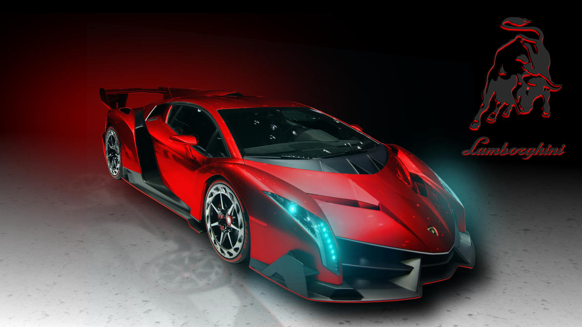 Lamborghini Veneno In Red. By Jester2508 ...