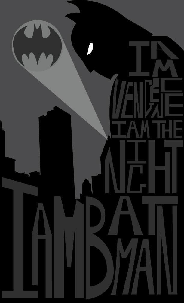Typography Tryout: Batman by MatDamonInAGrapeSuit