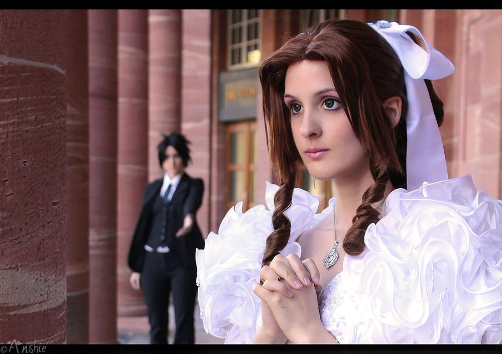 Zack Fair And Aerith Kiss Final Fantasy: ...