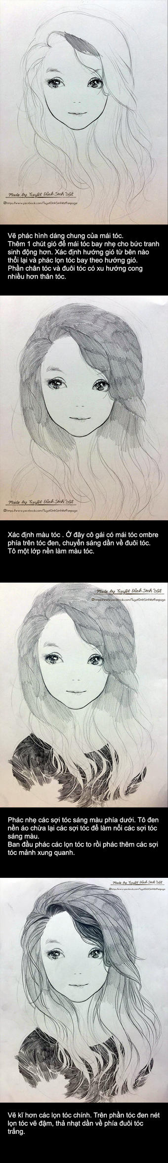 How to draw Hair from TuyetDinhSinhVat by TrungDinh