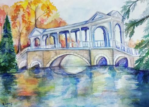 Marble bridge in Pushkin