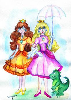 Princess Daisy and princess Peache