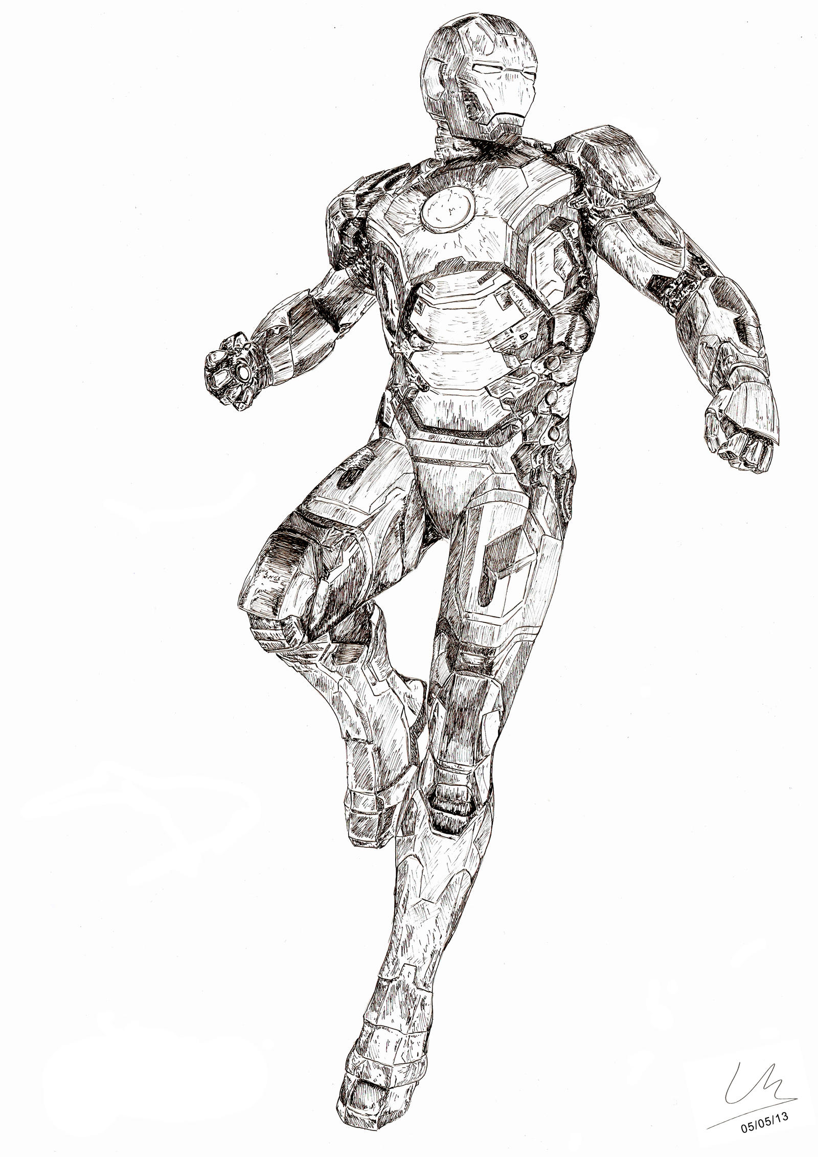 iron man mark 42 coloring pages - iron man mark xlii by loickmaire on deviantart