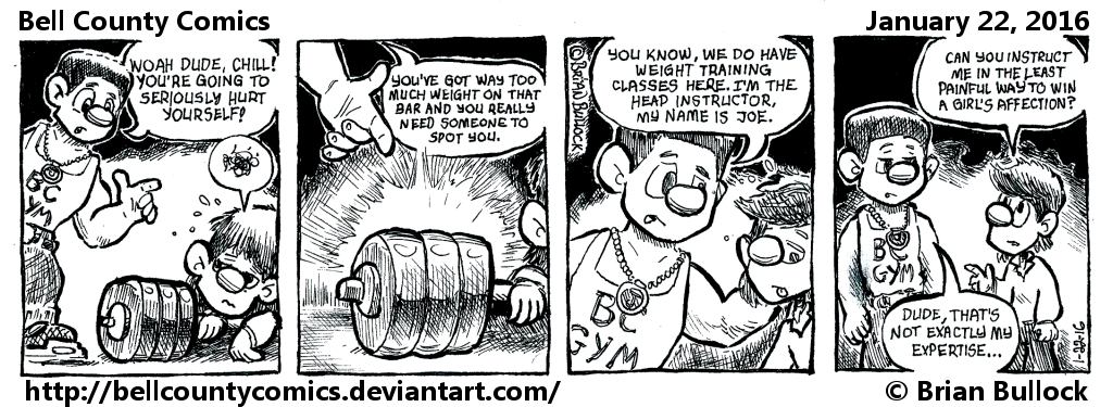 1-22-16 - Fri - Weight Training Offer by BellCountyComics