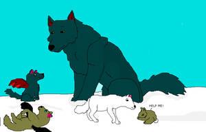 Bones and his puppys