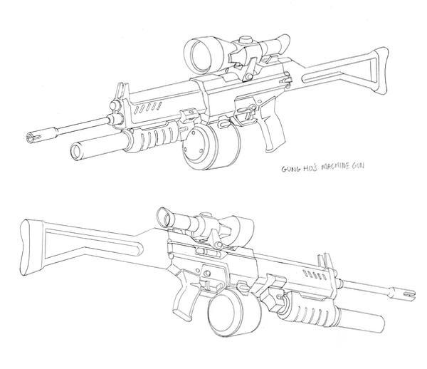 gi joe designs gung ho 39 s gun by dannortonart on deviantart. Black Bedroom Furniture Sets. Home Design Ideas