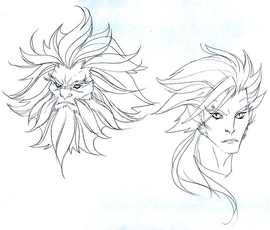 Claudus and Lion-O concepts by DanNortonArt