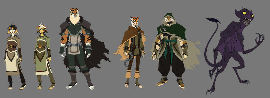 Tiger Clan rough colors by DanNortonArt