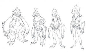 Fishmen Crew concepts by DanNortonArt