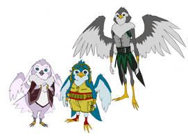 Bird men concepts by DanNortonArt