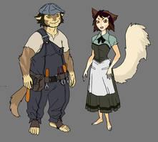 WilyKit and WilyKat's parents concept by DanNortonArt