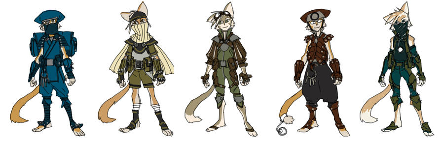 WilyKat costume alts by DanNortonArt