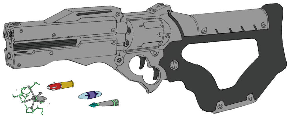 Mutant gun 4 by DanNortonArt