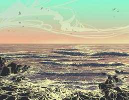Shoreline by DanNortonArt