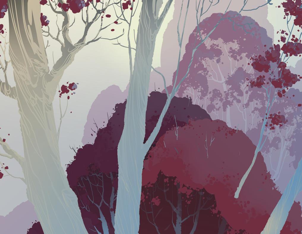 Crimson Forest by DanNortonArt