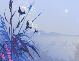Moon Flowers by DanNortonArt