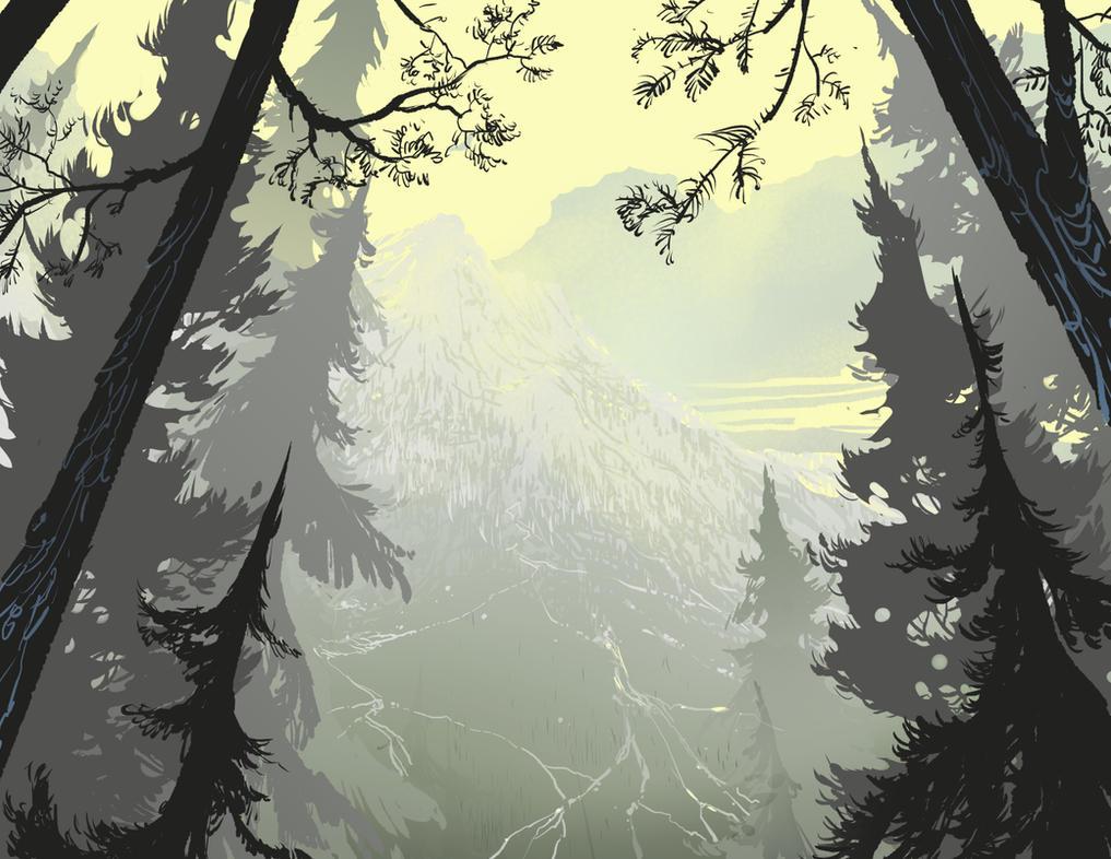 In the Pines by DanNortonArt