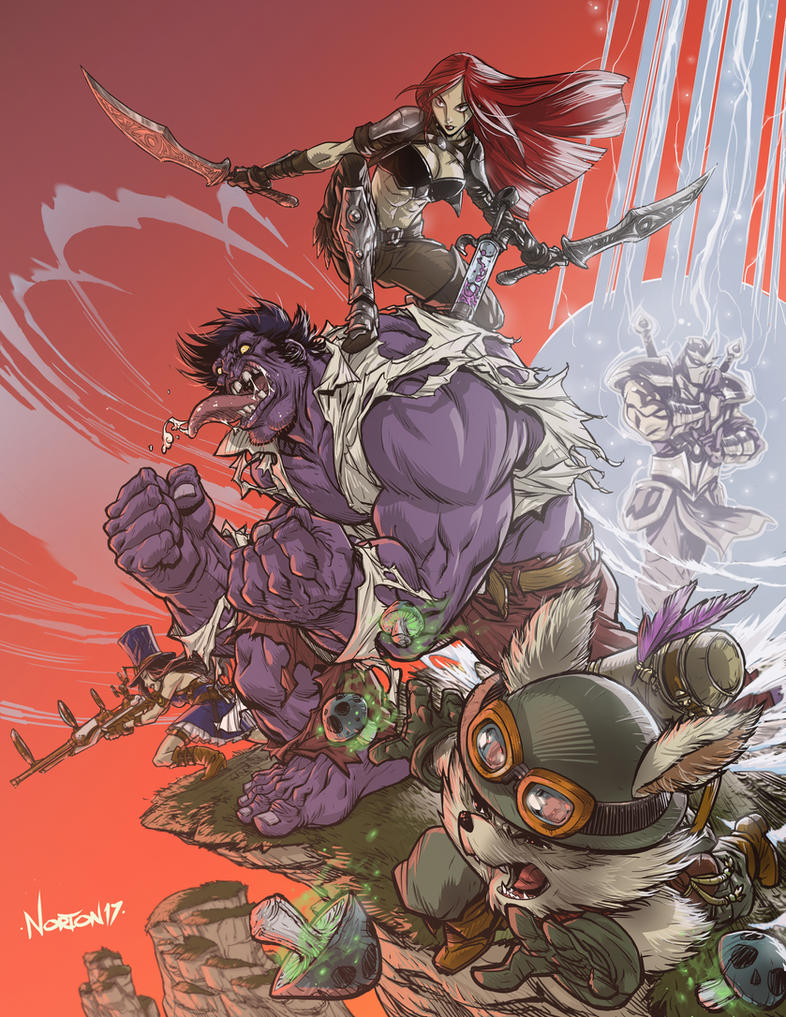 GG League of Legends by DanNortonArt