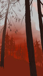The Red Forest by DanNortonArt