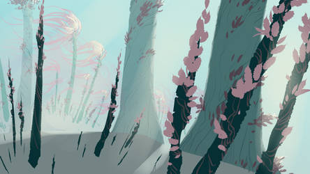 Alien Plant life by DanNortonArt