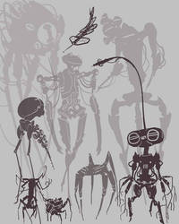 Character Concept Silhouettes group 1