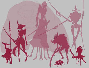 Character Concept Silhouettes group 2