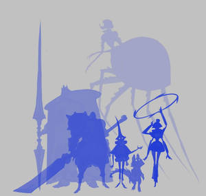 Character concept silhouettes group 3