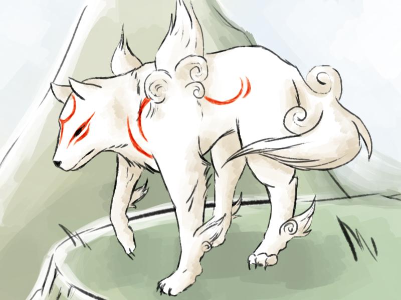 Okami doodle by Kimpics94
