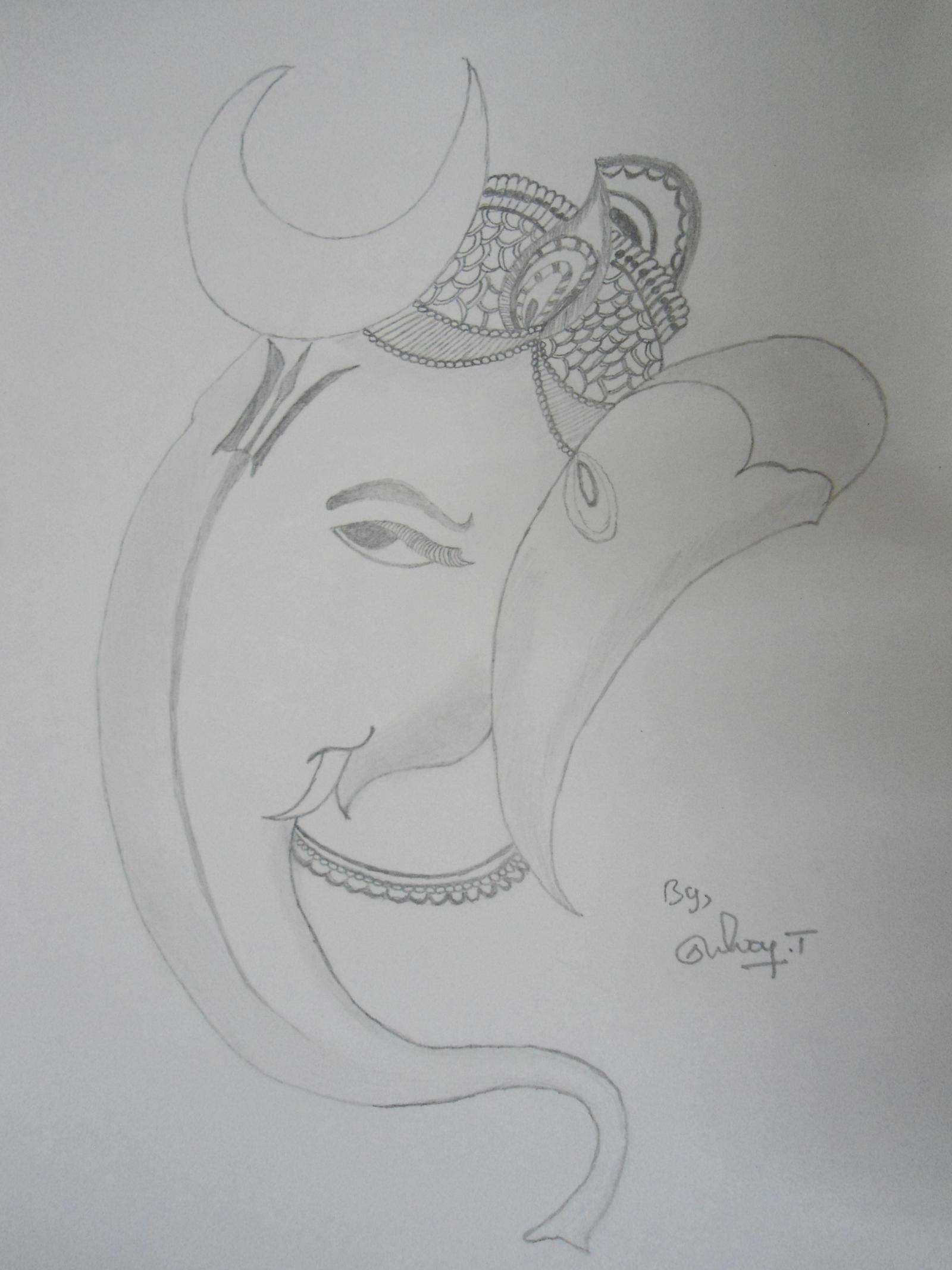 Lord Ganesha Sketch Ganapathi Pencil Drawings By Selvantamilmani On Deviantart