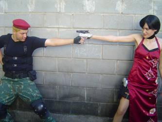 Ada Wong and Krauser by pandorynha