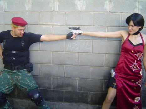 Ada Wong and Krauser
