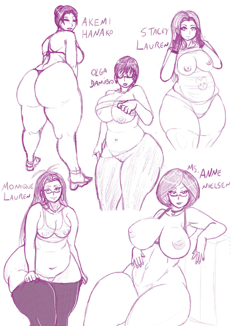 Bbw and curvy women - Sketches by 5tarex