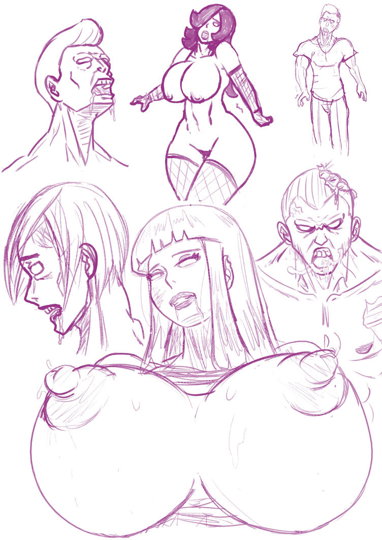 Zombies sketches by 5tarex