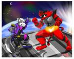 Wolf vs Incineroar  (FanArt) SSB Ultimate