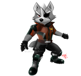 Wolf O'Donnell ( Star Fox 64 3D ) Artwork no offic