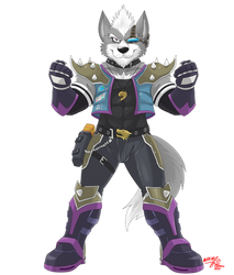 Wolf O'Donnell Brawl Version (Commission)