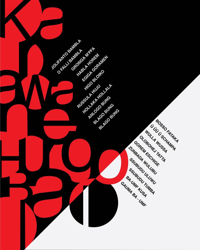 Dada Poem Poster by MrBadger