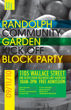 Community Garden Party Poster