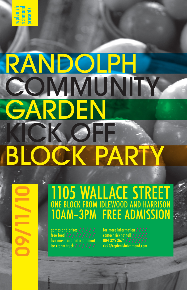 Community Garden Party Poster by MrBadger on DeviantArt