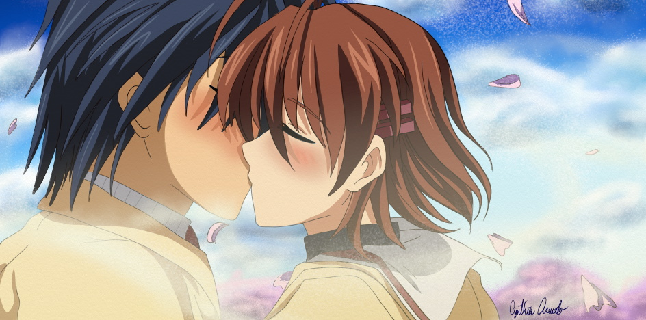 Tomoya And Nagisa Kiss By Raventheangelofdarkn On Deviantart