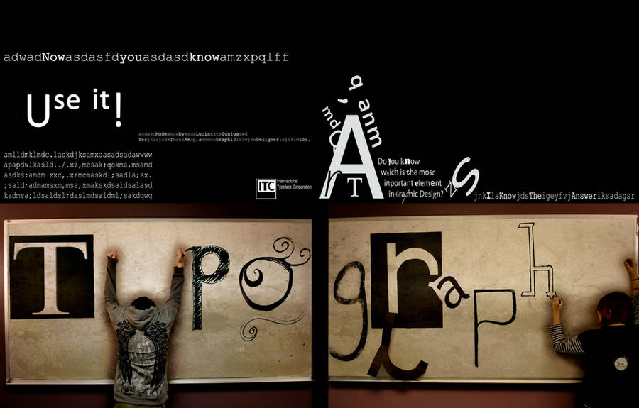 Typography by Black-sania