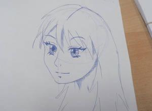 Manga girl doodle #2