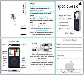 iPod leaflet design
