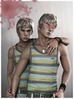 Twins by albynism
