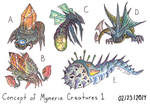 Concept of Myneria Creatures 1 by Unialien