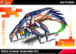 Xyktor Crawler Illustration Art by Unialien