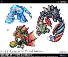 Concept of Mutant Creatures 1 by Unialien