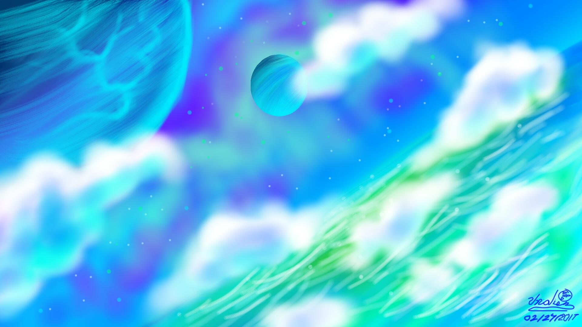 Starry Blues Stellar Sea by Unialien