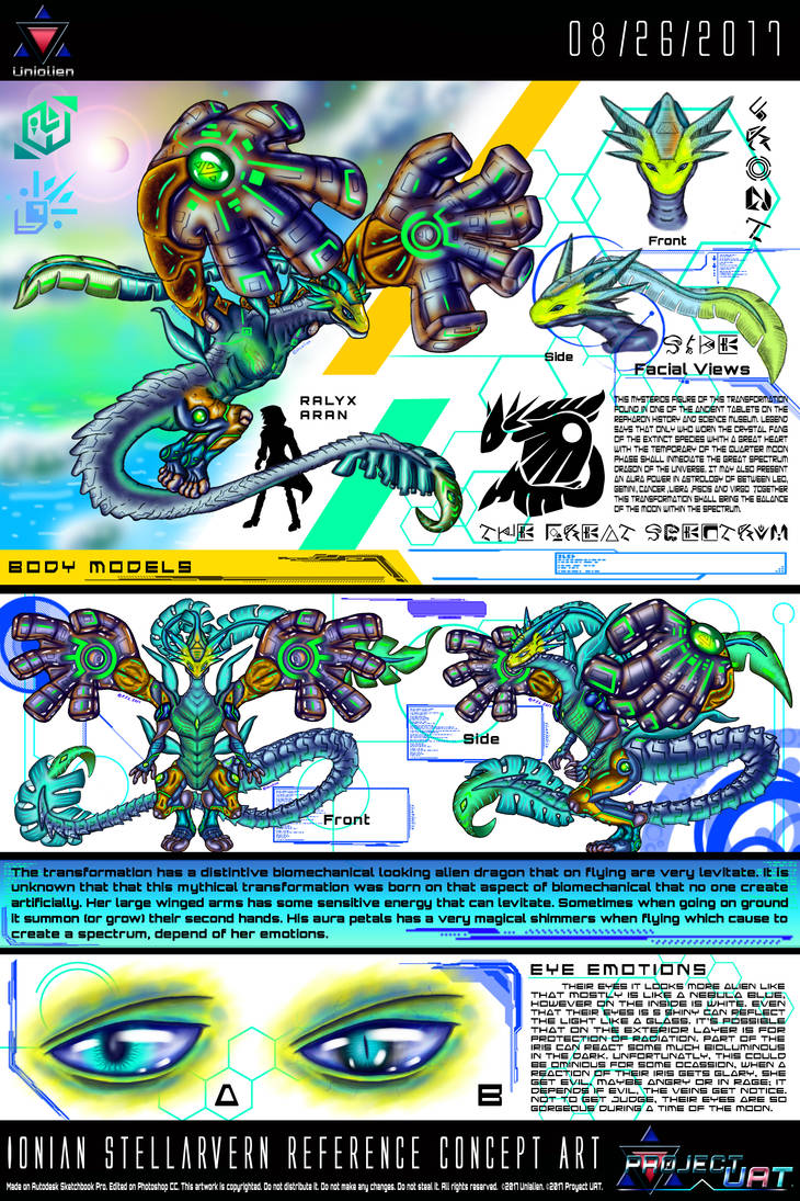 Ionian Stellarvern Reference Concept Art